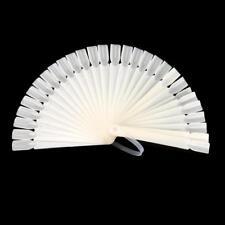 32Nail Art False Tip Sticks Polish Practice Display Fan Board Design Tool BG YT8
