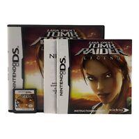 Lara Croft: Tomb Raider - Legend (Nintendo DS, 2006)-Complete w/manual-