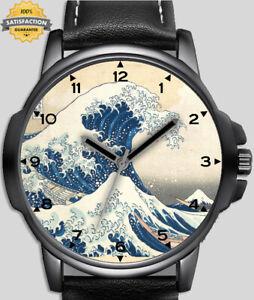 Great Wave Off Kanagawa Art Hokusai Unique Unisex Beautiful Wrist Watch UK FAST