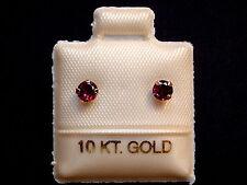 Rhodilith Granat Ohrstecker - 3,5 mm - 10 Kt. Weiß Gold - 417 - Brillant Schliff
