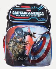 "Captain America Large 16"" School Backpack Boy Backpack"