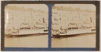 Ville A Identify Il Normandie Francia Foto Stereo Th1L5n2 Vintage Albumina c1890
