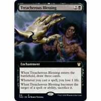 Extended Art: Treacherous Blessing Rare MTG Magic Karte Theros Beyond Death