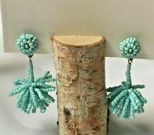 Earring Estate Turquoise Beaded Tassel
