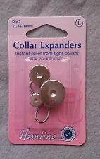 Collar expanders pack of 3 in sizes 11, 15, and 19mm - hemline