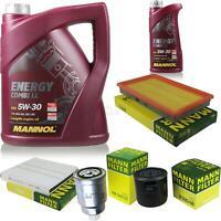 Motor-Öl 6L MANNOL 5W-30 Combi LL+MANN-FILTER für Nissan X-Trail T30 2.2 dCi 4x4