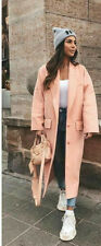 ZARA SOLD OUT OVERSIZED DOUBLE-BREASTED TANGERINE SALMON COAT  SIZE M 5507/202