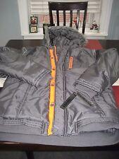 BOYS YOUTHS CALVIN KLEIN HOODED WINTER Jacket COAT Size XL ORANGE/GRAY NWT $120
