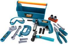 Werkzeugkoffer für Kinder Werkzeugkasten Set mit Bohrmaschine Werkzeug 22-teilig