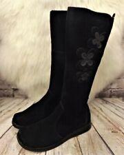 Womens TU Black Suede Zip Up Low Heel Knee High Boots UK 5 EUR 38