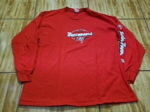 Tampa Bay Buccaneers Long Sleeve Shirt Adult 2XL Red White Football NFL  Mens