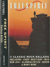Various ‎Free Spirit CASSETTE ALBUM 17 Classic Rock Ballads Power Queen Meat Loa