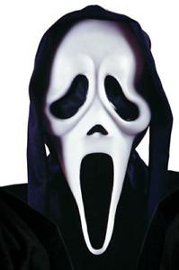 Scream Maschera Bianco Fantasma Viso Morbido Vinile Halloween Film Icon Costume