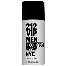 212 VIP Silver Carolina Herrera Deodorant Spray for Men 150ml Brand new Original