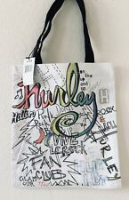 NWT HURLEY CANVAS SHOPPER TOTE BAG ILLUSTRATED Ships Free