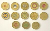 Australian $2 Remembrance Anniversary collection 2012 - 2020 Colour 13 Coins