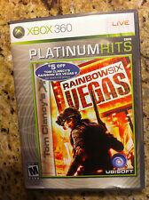 Tom Clancy's RAINBOWSIX VEGAS XBOX 360 LIVE GAME PLATINUM HITS