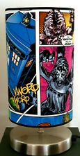 Bedside touch lamp night fabric shade Dr who phone box tardis darlek