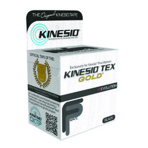 McK Kinesio Tex Gold FP Kinesiology Tape 2 Inch X 5-1/2 Yard Black