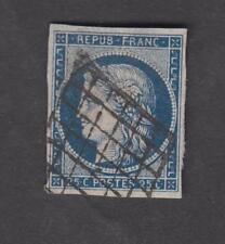 France -Timbres oblitérés - N° 4a - Bleu foncé - Type Cérès - 1850