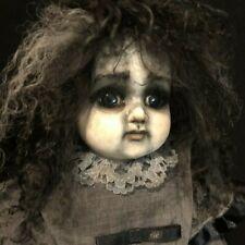 Gothic Girl #11 Ooak Porcelain Doll Theodora Teddy Bear Picnic Musical g2taylor