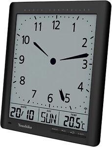 Youshiko Radio Control ( UK Version ) Digital Analog Style Silent Wall Clock