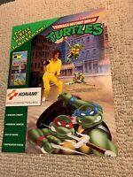 """original 11-8 1/4"""" Teenage Mutant Ninja Turtles TMNT Konami  ARCADE GAME FLYER"""