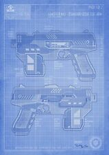 Dredd 3D-législateur MKII Blueprint A3 Art Print 2000ad