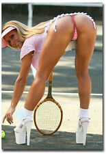 "Sexy Tennis Blond Girl Fridge Magnet Collectible Size 2.5"" x 3.5"""