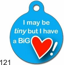 Cute Custom Personalized Pet ID tag for Dog and Cat ROUND unique Tags Charm coLO