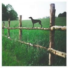 Greyhound Dog Fence Garden Topper