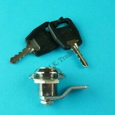 1 x Chrome Compartment Lock with 2 Keys for Trailers Horsebox Caravans