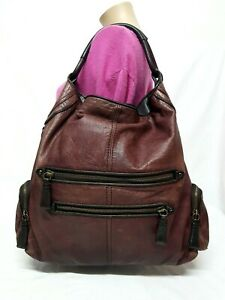 COACH LIMITED EDITION CAMBRIDGE BURGUNDY OVERSIZE HOBO TOTE HANDBAG 14084