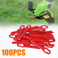100/200Pcs Red Plastic Replacement Blade Set Parts For Cordless Grass Trimmer