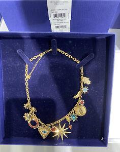 "Swarovski 5451263 Gold-Tone Lucky Goddess Charm Necklace, 14-1/8"" + 2"" extender"
