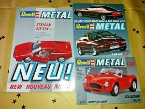 3 X Revel Die Cast Scale Model Car & Kits Catalogues 1989/90, Etc. 1:24, 1:18