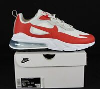 New Nike Air Max 270 React in White/University Red Colour Size 10