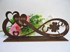 ❤️Geschenk zur Hochzeit Unendlichkeit  Geldgeschenk personalisiert Holz groß❤️