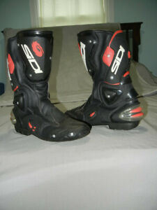 SIDI Vertigo Motorcycle Boots Black w/Red Fluo Men's US 11/EU 45 Free Shipping