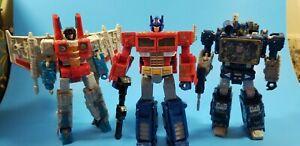 Transformers Generations Siege soundwave optimus prime starscream lot loose