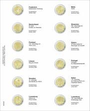 LINDNER MU2E26 Multi Collect Münzhülle Vordruckblatt 2 Euro FRA-LUX 2020-2021