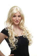 Damen Perücke Wig platinblond Locken Seitenscheitel Haarersatz 70 cm 9204S-613