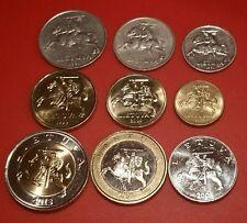 Lithuania Litas Unc Set 9x Coins Unc & Circ XF