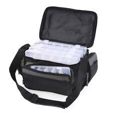 Large Fishing Tackle Bag Shoulder Waist Backpack Reel Lure Gear Storage AU STOCK