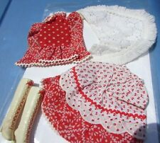 Vintage Barbie Doll Country Music Outfit VHTF #1055 Rare Boots White Red Lace