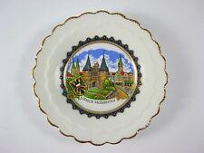 LÃœBECK Teller Porzellan,8 cm vergoldet,Holstentor,Souvenir,NEU