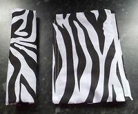 LARGE ZEBRA PRINT BOW & STRAP COVERS PRAM PUSHCHAIR CARSEAT HOOD PIN FASTENING