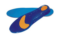 Insoles with Gel Arch Support and Heel Cushion Full Length  Massaging Comfort