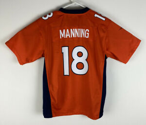 Youth Nike On Field Denver Broncos Peyton Manning #18 football jersey, L