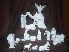 C604 - Ceramic Bisque 16 Piece Clay Magic Nativity Set - Ready to Paint